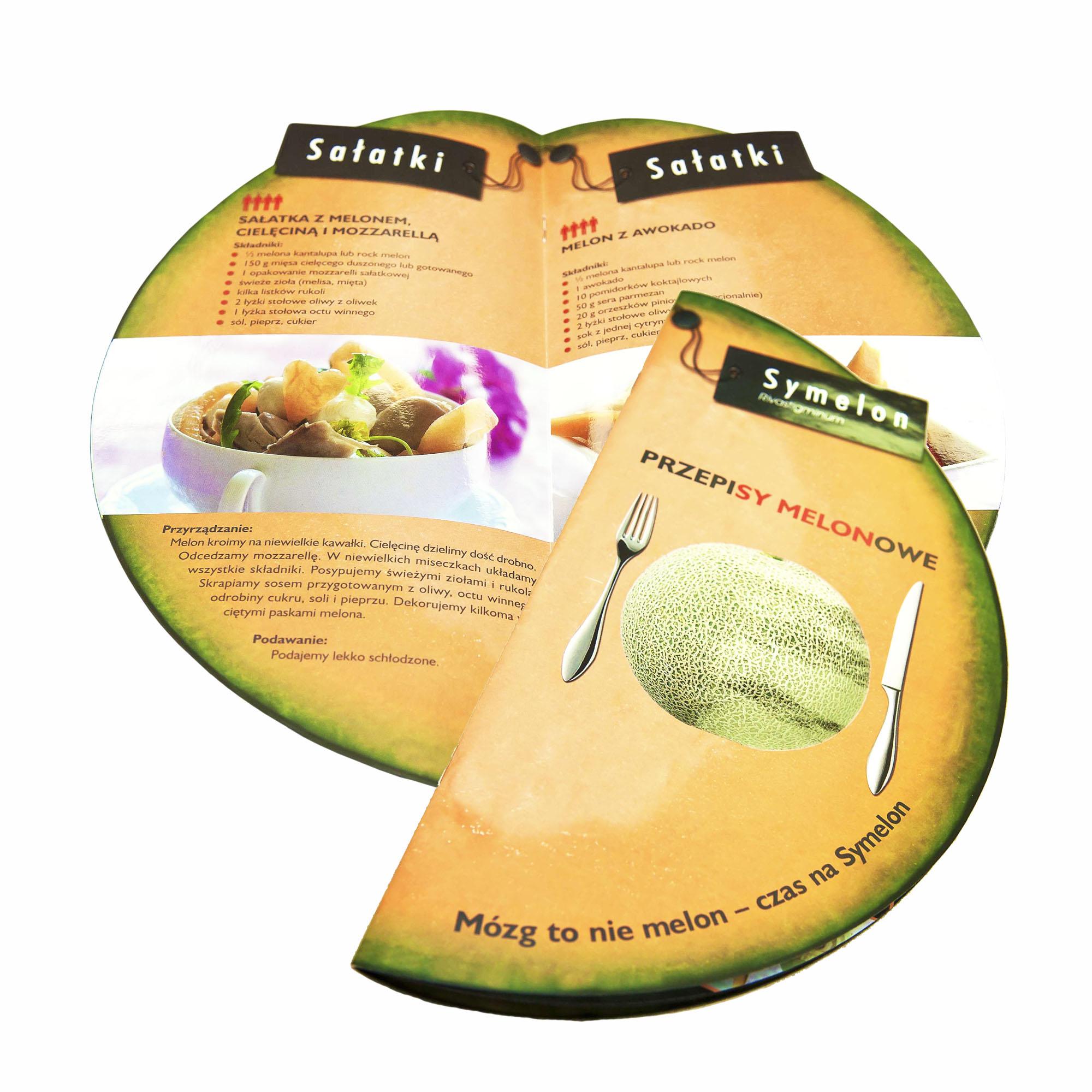Karty menu w kształcie melona